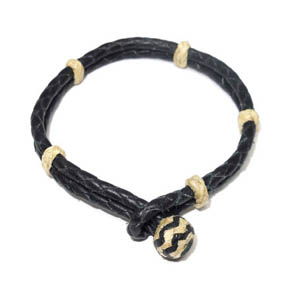 Light & Dark Leather Bracelet