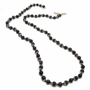 Limited Edition Blue Tigers Eye & Ruby Men's Beaded Necklace