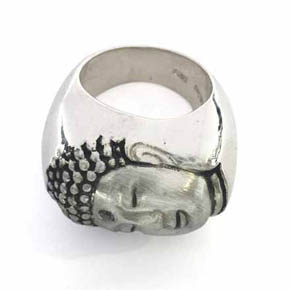 Limited Edition Handmade Sterling Silver & Diamond Buddha Ring