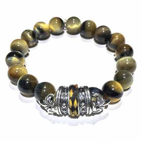 Limited Edition Python & Tigers Eye Beaded Bracelet