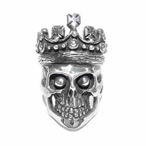 Limited Edition Silver Crowned Men's Skull Ring