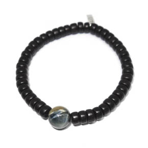 Limited Edition Wood Roundell & Tiger's Eye Bracelet