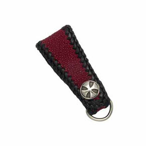 Maltese Cross and Red Sting Ray Men's Key Fob