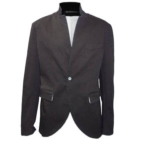 Mavranyma Black and White Cotton Blazer