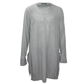 Mavranyma Grey Side Pocket Long Shirt