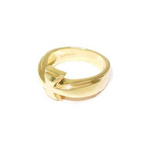Men's 18k Gold Cross Ring