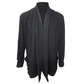 Men's Black Kmrii Bamboo Shawl