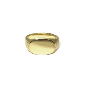 Men's Hammered Signet Ring