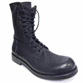 The Last Conspiracy Men's Leather Lace Up Combat Boots