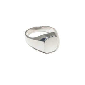 Men's Silver Octagon Signet Ring
