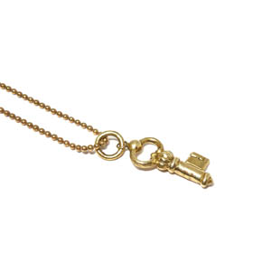 Mini Brass Key Pendant