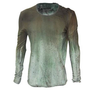 No No Yes Green Dyed Shirt -Pre Fall