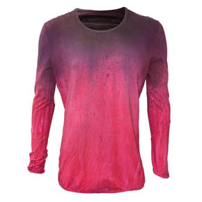 No No Yes Raspberry Dyed Shirt -Pre Fall