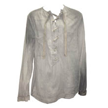 Old Brown Desert Sun Lace-up Shirt