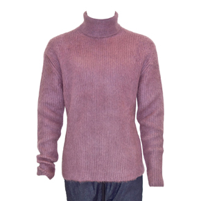 Paura High Neck Mauve Purple Mohair Sweater