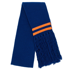 Paura Navy Blue & Orange Oversized Scarf