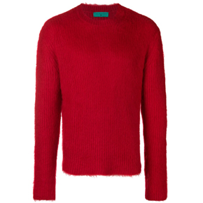Paura Red Mohair Wool Sweater