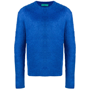 Paura Royal Blue Mohair Wool Sweater