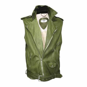 Peace Vintage Leather Vest
