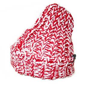 Red And White HTC Wool Mix Hat