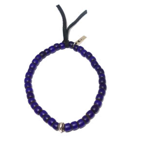 Royal Blue African Trade Bead Bracelet