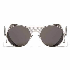 Silver Matte and Gray L.G.R. Lawrence Men's Sunglasses