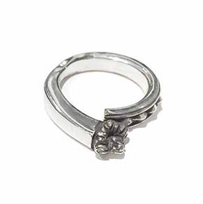 Silver Pyramid & Lion Men's Ring