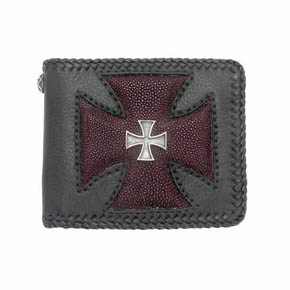 Maltese Cross And Red Sting Ray Men's Wallet