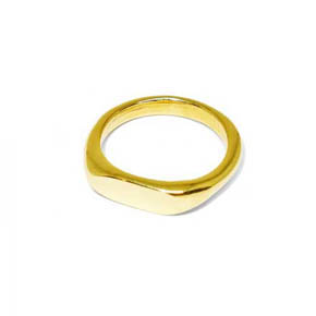 Slim Gold Signet Ring