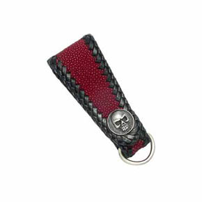 Skull and Red Sting Ray Men's Key Fob