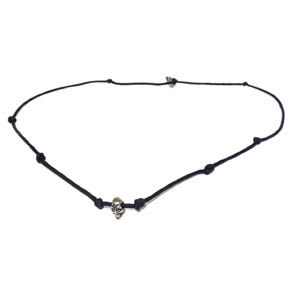 Skull on Hemp Necklace