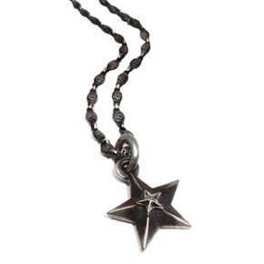 Sterling Silver & 18kt Gold Star Pendant