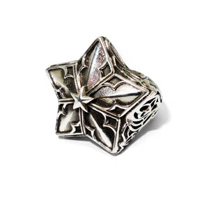 Sterling Silver Gothic Star Ring