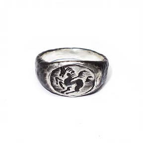 Sterling Silver Pegasus Ring