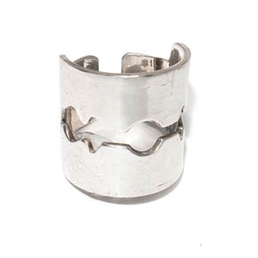 Sterling Silver Razorblade Ring
