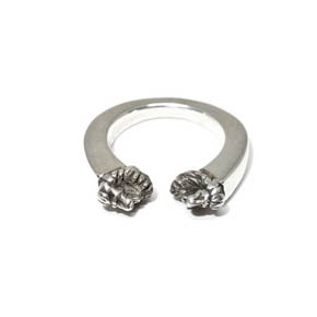 Sterling Silver Tapered Lion Ring