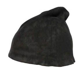 T.A.S Black Nubuck Men's Sheepskin Hat