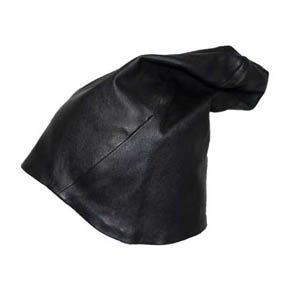 T.A.S Men's Black Sheepskin Nappa Leather Hat