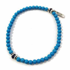 Turquoise & Sapphire Accent Beaded Bracelet