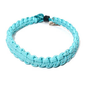 Turquoise Macrame Leather Bracelet