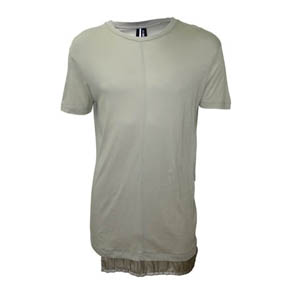 Undercoat Grey Silk Detail Short Sleeve T-shirt