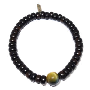 Wood & Tiger's Eye Bracelet