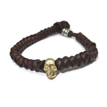 Woven Deer Skin Leather Bracelet